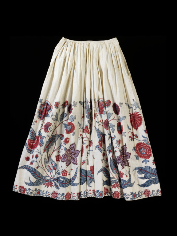 petticoat of painted and dyed cotton chintz
