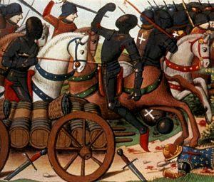 La bataille des harengs, enluminure du 15e siècle