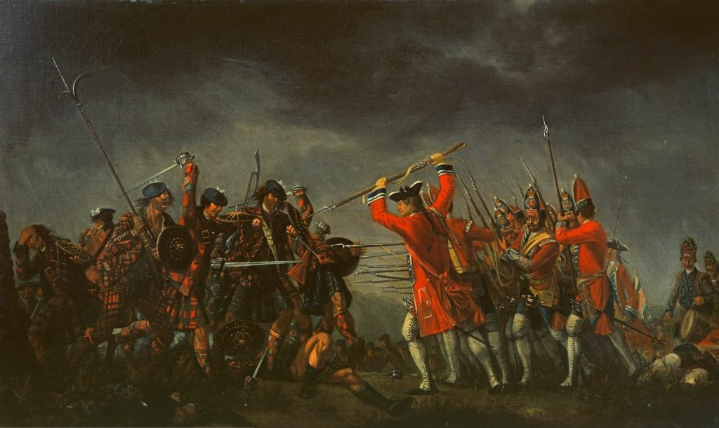 """""""The Battle of Culloden"""" par David Morier, 1746"""