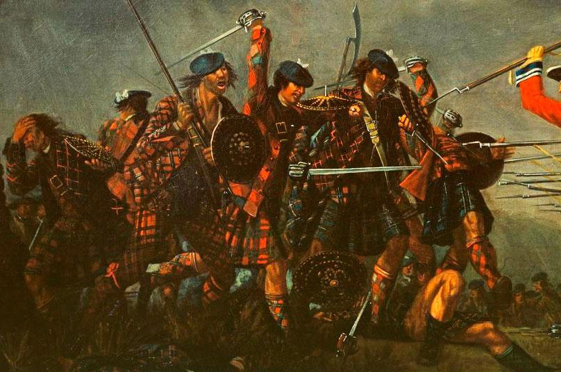 """""""The Battle of Culloden"""" par David Morier, 1746 - détail de la peinture"""