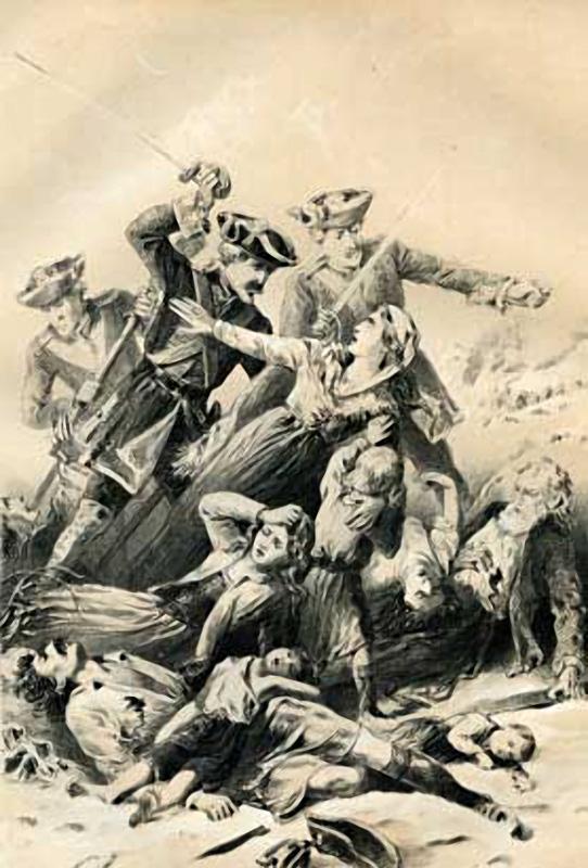Le massacre de Glencoe - auteur & date inconnus