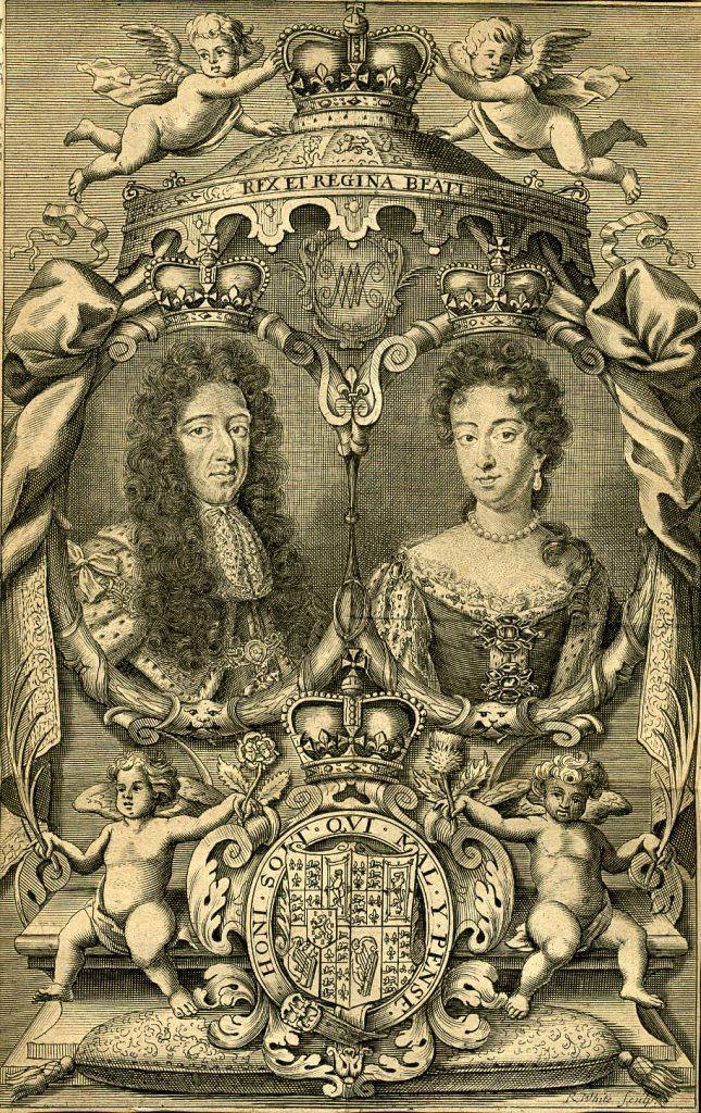 Guillaume d'Orange & Marie Stuart par R White - 1703