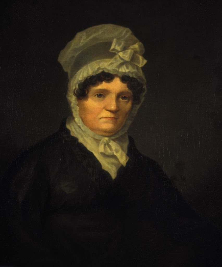Jean Armour peinte par John Alexander Gilfillan (en 1822)