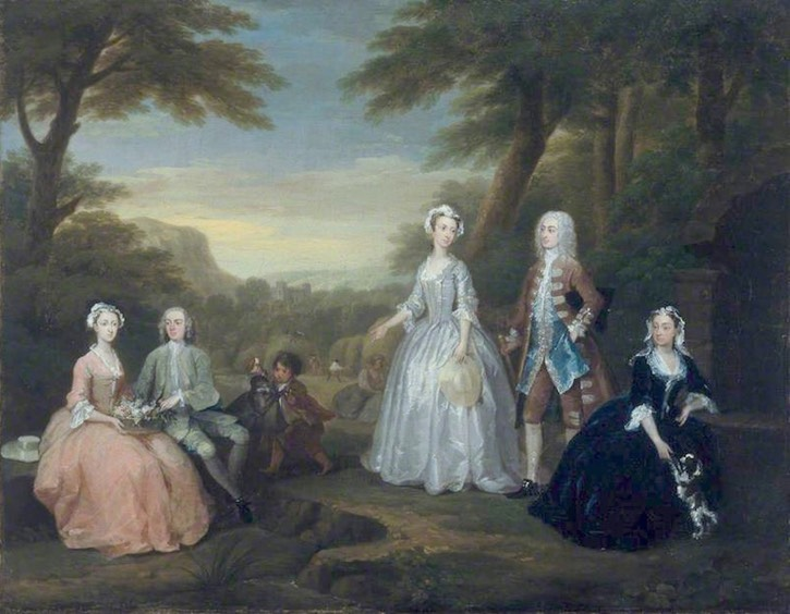 The Jones Family Conversation Piece, par William Hogarth, 1730 (Amgueddfa Cymru – National Museum Wales - Cardiff, Angleterre)