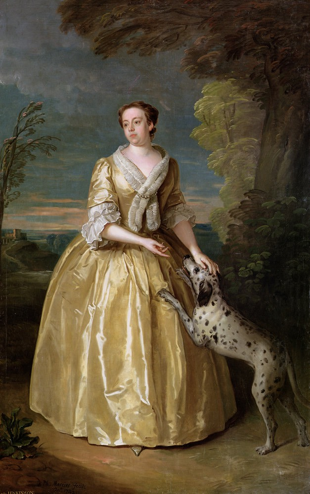 1742 Henrietta, Lady Jenkinson par Philippe Mercier, 1742 (Temple Newsam House - Leeds, West Yorkshire, Angleterre)