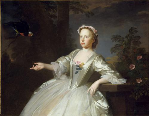 Girl with Parrott, par Allan Ramsay, 1744