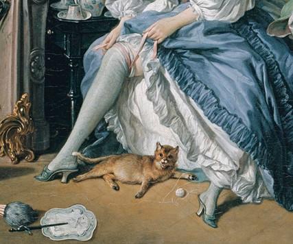 Francois Boucher, La Toilette - Garter 1742 détail