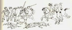 Penicuik - Confrontation entre la cavalerie anglaise et les jacobites