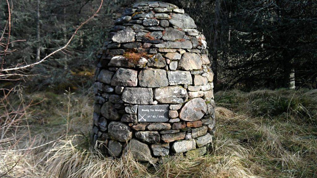 Le monument dressé sur la route de Moy commémorant l'évènement