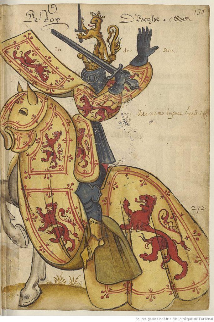 Robert le Bruce, Armorial de l'Europe, manuscrit du 15e siècle, France